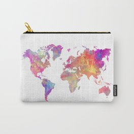 Map of the world #map #world Carry-All Pouch