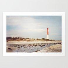 Barnegat Lighthouse Long Beach Island New Jersey Shore, Old Barney Light house LBI Art Print