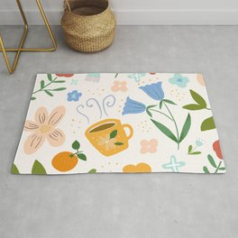 The lovely yellow cup - Hand-painted gouache Rug