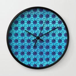 Blue succulent garden Wall Clock
