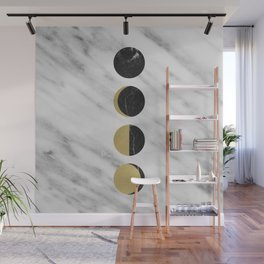 Black Moon on Marble Wall Mural