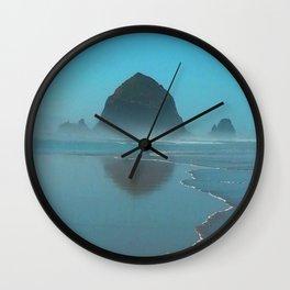 Haystack Rock, Cannon Beach Oregon Wall Clock