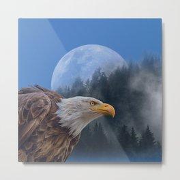 Bald Eagle Montage Metal Print