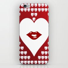 Loving Hearts and Lips iPhone & iPod Skin