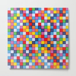 Abstract colorful mosaic pattern Metal Print