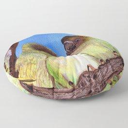 Birds of a Feather by Maureen Donovan Floor Pillow