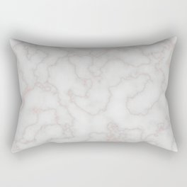 Marble Rosegold Texure Rectangular Pillow