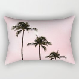 Palm Tree Photography Peach | Blush Pink | Millennial Pink | Miami Rectangular Pillow