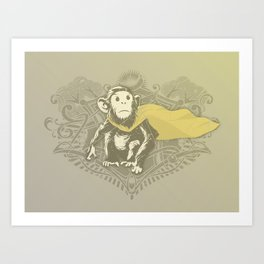Fearless Creature: Chimpy Art Print