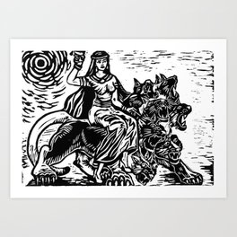 Babalon on her Sweet Ride Art Print