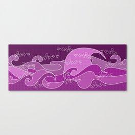 Waves V fuchsia colors V Duffle Bags Canvas Print