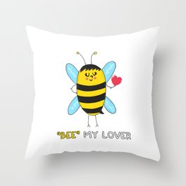 BEE my Lover Throw Pillow
