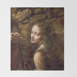 "Leonardo da Vinci ""The Virgin of the Rocks (London)"" Angel Throw Blanket"