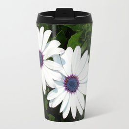 A Pair of White African Daisies Travel Mug