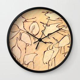 "Katsushika Hokusai ""Cranes from Quick Lessons in Simplified Drawing"" (1823)(original) Wall Clock"