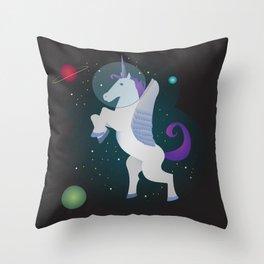 Space Pegacorn Throw Pillow