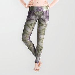 Lilac and Green Mandala Leggings
