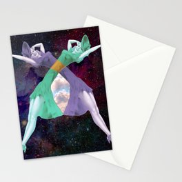 Dancing Ladies in Space Stationery Cards