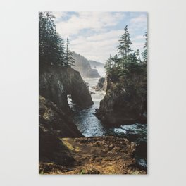 Misty Oregon Coast Canvas Print