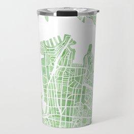 Sydney Australia watercolor city map Travel Mug
