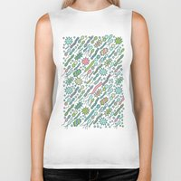 biology Biker Tanks featuring Microbes by Anna Alekseeva kostolom3000