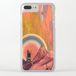 Pulling The Cosmic Tooth Clear iPhone Case