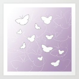 Butterflies | lilac color Art Print