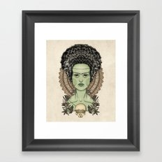 The Bride of Frankenstein Framed Art Print