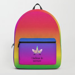 I Believe In Unicorns Backpack