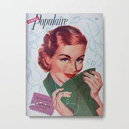 1940's Retro Dressmaking Metal Print