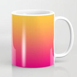 Hot Pink / Golden Heart Gradient Colors Coffee Mug