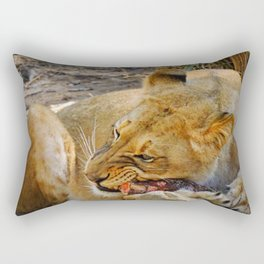 Lion dinner Rectangular Pillow