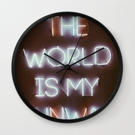 The World is my Runway (color) Wall Clock