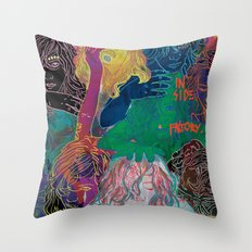 all the workers at the inside factory Throw Pillow