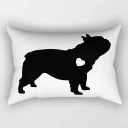 French-Bulldog Black Heart Baby Frenchie Rectangular Pillow