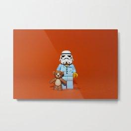 Sleepy Stormtrooper Metal Print