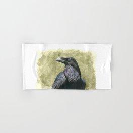 Proud Raven - Watercolor Hand & Bath Towel