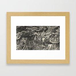Aquasipho Tripodia Landscape: Microtubule Flowering Framed Art Print
