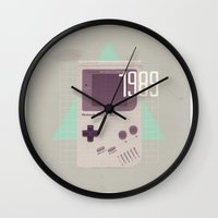 gameboy Wall Clocks featuring Gameboy by Vold1