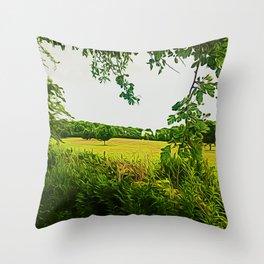 Parbold Hill (Digital Art) Throw Pillow