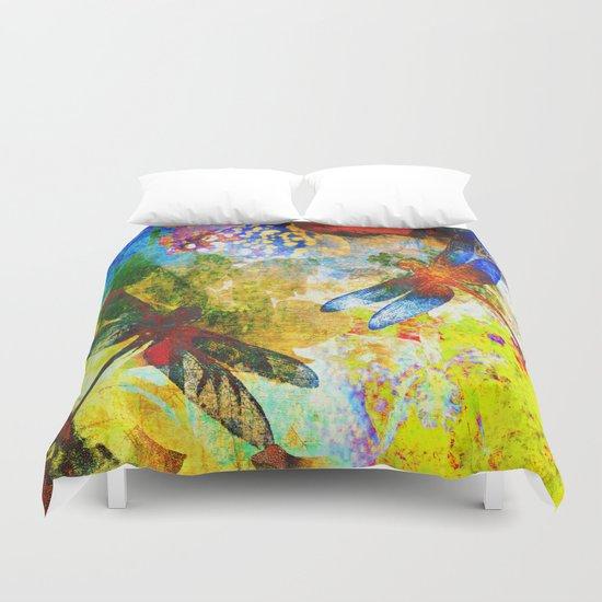 Silk Dragonflies QQ Duvet Cover