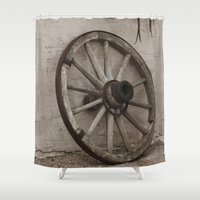 western Shower Curtains featuring Western Life by 100 Watt Photography
