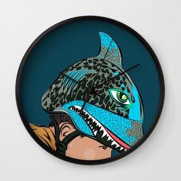 The Shark Helmet Wall Clock