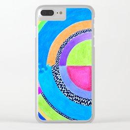 Meditation Mandala Clear iPhone Case