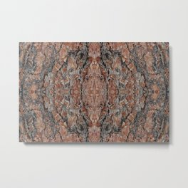 Wood Texture Kaleidoscope Metal Print
