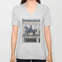 Scottish Photography Series (Vectorized) - Duke of Wellington Statue Glasgow #2 Unisex V-Neck