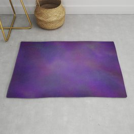 Abstract Soft Watercolor Gradient Ombre Blend 14 Dark Purple and Light Purple Rug