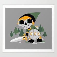 Skull Sword Guy Art Print
