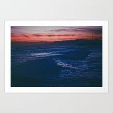 Silent Oahu Waves Art Print