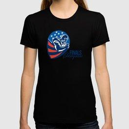 American Football Finals Champions Retro T-shirt